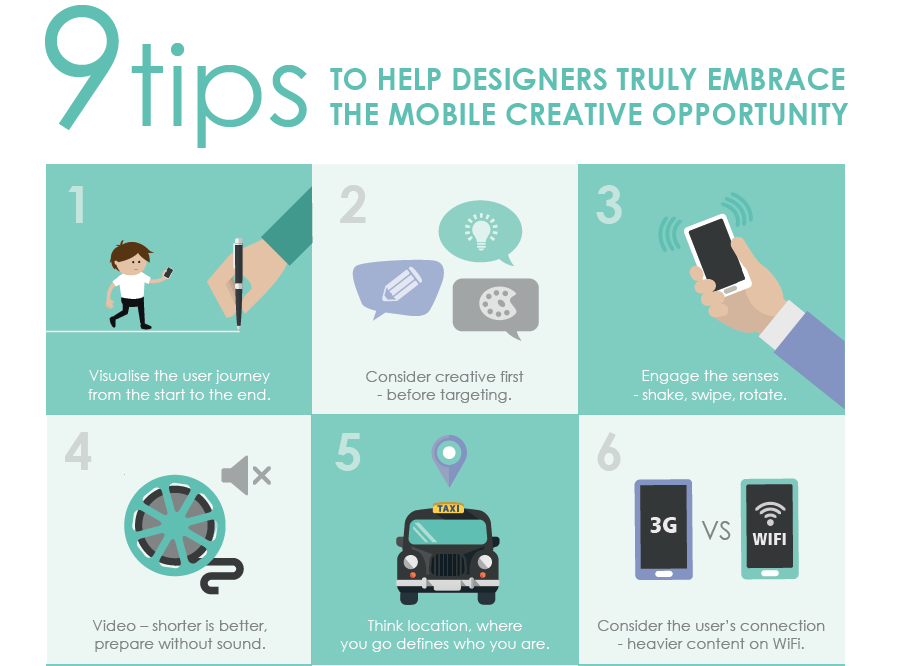 Nine tips to help designers truly embrace the mobile creative opportunity